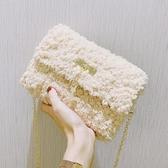 編織包手工包包編織女包2020秋冬百搭時尚鏈條斜背包diy自制材料包 雲朵走走