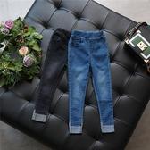 女童牛仔褲長褲夏季褲子正韓薄款中大童鉛筆褲小腳褲【週年慶免運八折】