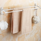 毛巾架 免打孔衛生間浴室壁掛置物掛架廁所太空鋁毛巾桿單桿帶掛鉤TW【快速出貨八折鉅惠】