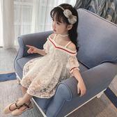 女童吊帶洋裝夏季新款韓版蕾絲裙夏裝寶寶公主裙兒童裙子