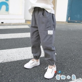 男童長褲薄款夏季棉麻寬鬆工裝褲男孩褲【奇趣小屋】