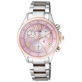 [萬年鐘錶] Citizen Eco Drive光動能 XC  羅馬時標 碼錶 藍寶石玻璃  不鏽鋼錶殼錶帶   32mm FB1404-69W