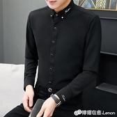 秋季長袖白襯衫男士韓版潮流修身休閒襯衣職業寸衫商務正裝工作服