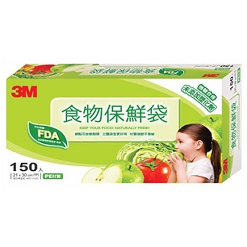 3M 食物保鮮袋盒裝-中(150入)【愛買】