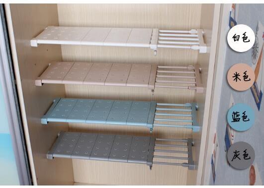 衣櫃收納分層隔板櫃子免釘置物架櫥櫃浴室層架隔層架可伸縮整理架wy 交換禮物
