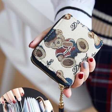 卡包錢包一體包女式銀行卡套超薄簡約信用卡新款女士小巧證件零錢 夢幻衣都
