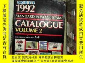 二手書博民逛書店Scott罕見1992 standard postage stamp catalogue VOLUME 2 斯科特