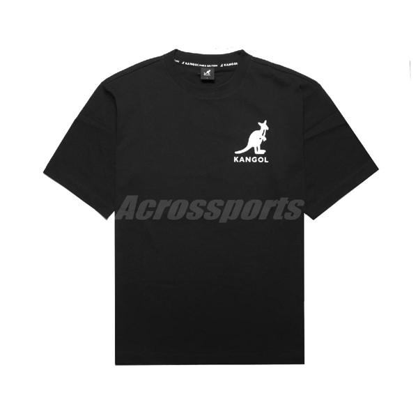 Kangol 短袖T恤 Printed Tee 黑 白 男款 袋鼠 短T 落肩 運動休閒 【ACS】 6021101420