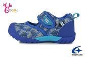 Moonstar 月星 HI系列 日本機能鞋 中童 護趾涼鞋 速乾 休閒鞋 I9637#藍色◆OSOME奧森鞋業