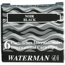 WATERMAN 袖珍型卡式墨水-6入黑