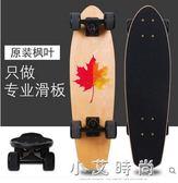 滑板 滑板小魚板成人刷街青少年大魚板四輪初學者兒童滑板車男女生 小艾時尚 igo