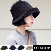 OT SHOP 帽子 漁夫帽 毛帽 盆帽 素色日系 燈芯絨 時尚穿搭配件 商品實拍實穿 現貨3色 C2044