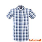 Lafuma 男 COMPASS 短袖排汗襯衫-藍 【GO WILD】