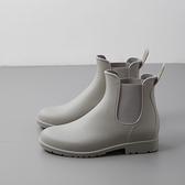 雨靴 時尚款外穿雨鞋女成人短筒雨靴防水套鞋防滑切爾西水靴膠鞋水鞋 維多原創