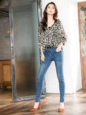 秋裝上市[H2O]超彈性顯瘦中腰水洗牛仔長褲 - 藍/淺藍色 #9658005