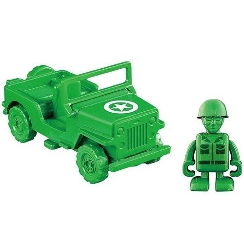 【震撼精品百貨】Micky Mouse_TOMICA 玩具總動員小汽車 綠色小士兵&軍事車84474