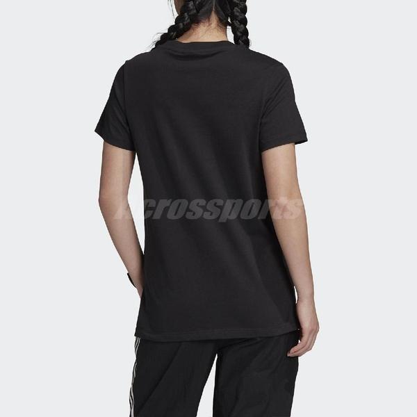 adidas 短袖T恤 Originals Tee 黑 金 女款 運動休閒 【PUMP306】 GK1725