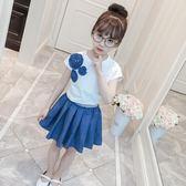 女童洋氣套裝 新款時尚可愛夏季兩件套裙 LR2332【每日三C】