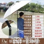 釣魚傘戴威營釣魚傘2.2/2.4米萬向雙層防雨曬垂折疊戶外地插遮陽釣傘童趣屋促銷好物