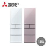 【MITSUBISHI三菱】日本製455L五門全鏡面美型一級能效變頻冰箱 MR-BC46Z