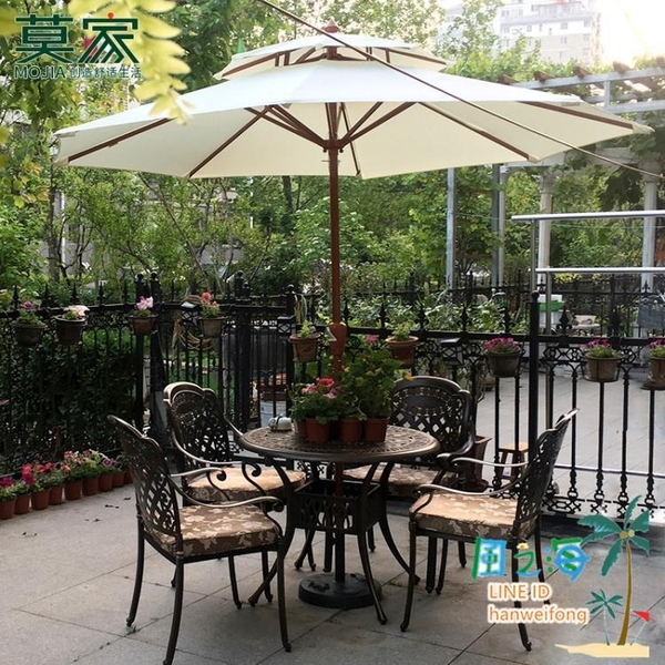 戶外傘庭院傘室外大太陽傘廣告摺疊中柱傘陽臺桌椅遮陽傘戶外擺攤【風之海】