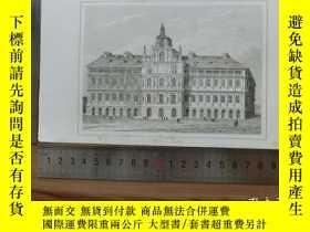 二手書博民逛書店【罕見】19世紀 銅 鋼版畫 單幅 HOTEL DI VILLI