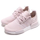 adidas NMD_R1 W 粉紅 白 女鞋 boost 襪套式設計 運動鞋【PUMP306】 B37652