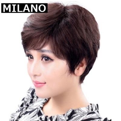 假髮(短髮)-微捲中老年成熟逼真女假髮2色73em29【時尚巴黎】
