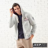 【JEEP】美式探險休閒連帽外套-男女適穿-灰