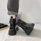 平底短靴網紅增高瘦瘦馬丁靴女夏季款ins潮靴新款百搭復古英倫風短靴 【快速出貨】