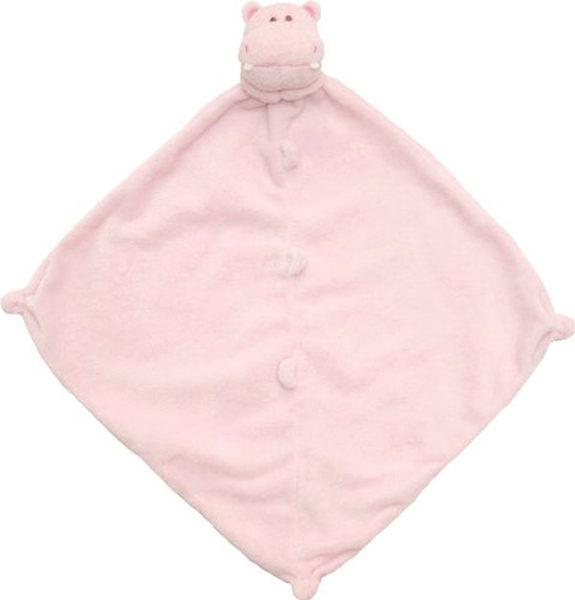 美國Angel Dear 動物嬰兒安撫巾 粉紅河馬