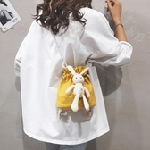 包包女包新款韓版流行單肩包夏天小清新可愛水桶斜背帆布小包 韓小姐