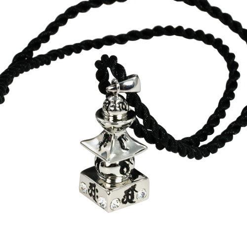 【藏傳佛教文物】大日如來五輪塔項鍊(可裝藏)-(PBN44)