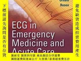二手書博民逛書店Ecg罕見In Emergency Medicine And Acute CareY364682 Chan,