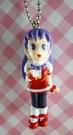 【震撼精品百貨】日本精品百貨-手機吊飾/鎖圈-格鬥系列-手機吊飾-紫頭