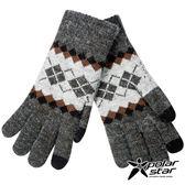 【PolarStar】男觸控保暖手套(菱格)『暗灰』P17627 台灣製造.絨毛手套.觸控手套.刷毛手套.露營