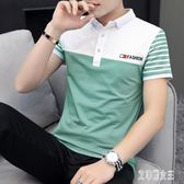 2019夏季新款polo衫男短袖t恤男士翻領半袖修身短袖T恤小衫 LR7294【艾菲爾女王】