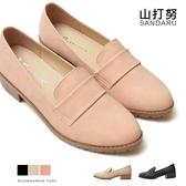 紳士鞋 霧面皮革低跟休閒鞋- 山打努SANDARU【107A398#46】