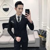 2018新郎正裝男士西服套裝修身韓版伴郎團結婚禮服休閒西裝男外套