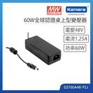 明緯 60W全球認證桌上型變壓器(GST...