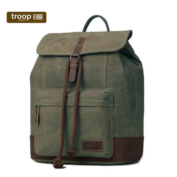 【TROOP】傳統簡約HERITAGE雙肩包/TRP0442OLI(橄欖色)