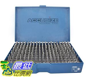 [8美國直購] 針規套裝 Accusize Industrial Tools 0.251吋-0.500吋, 250 Pc/Set Steel Plug Pin Gage Set M2(-)