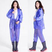 雨衣 透明雨衣雨褲套裝自行摩托電動車加厚戶外騎行分體雨衣【韓國時尚週】
