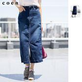 牛仔裙 長窄裙 彈性丹寧 開岔 免運費 日本品牌【coen】