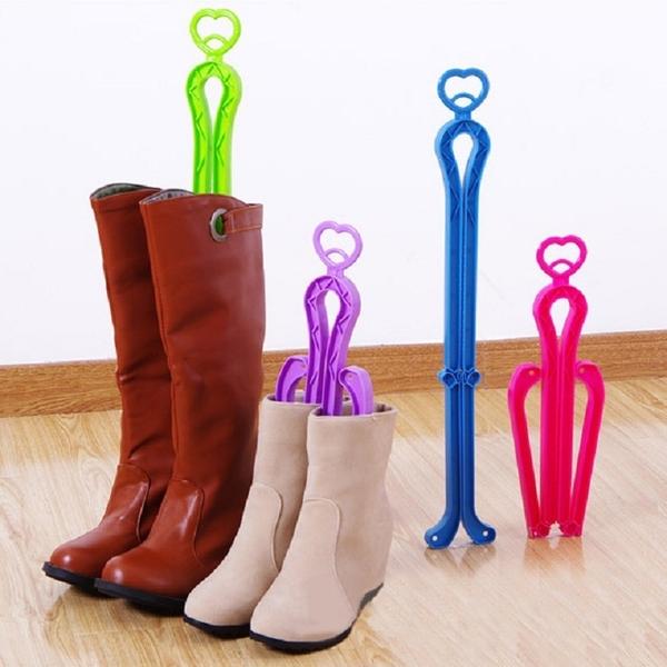 鞋撐 鞋架 摺疊式愛心鞋撐 折疊鞋撐 靴子 鞋架 鞋盒 長筒 雪靴【Z004】