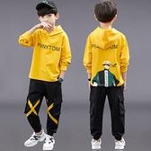 男童套裝 男童春裝套裝2021新款帥氣運動男孩中大童秋季衛衣長袖兩件套【快速出貨八折搶購】