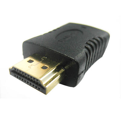 Bravo-u Mini HDMI(母) to HDMI(公) 24K鍍金轉接頭