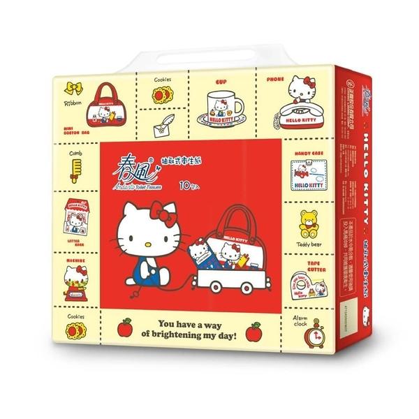 【南紡購物中心】春風-抽取式衛生紙-KITTY限量包 100抽x10包x7串/箱