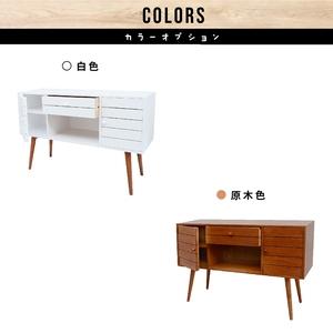 E-home Garland葛蘭德一空單抽雙門實木收納電視櫃-兩色可白色