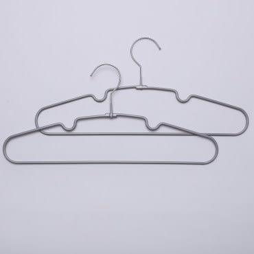 HOLA典雅防滑衣架10入 灰